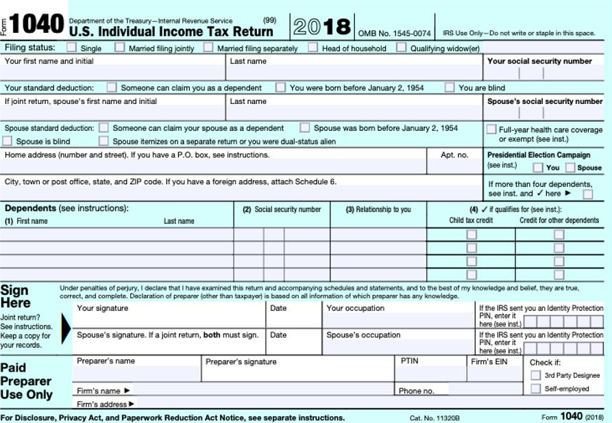 1040-1  Form Example Completed on itemized deductions, schedule booklet tax penalites, tax information, signed federal irs, payment voucher, schedule worksheet,