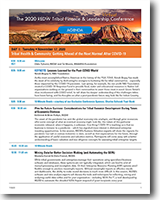 Agenda - The 2020 REDW Tribal Finance & Leadership Conference